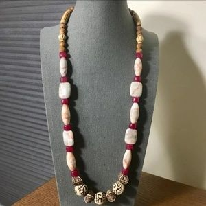 3/$25 ** Chunky Beads n Stones String Necklace